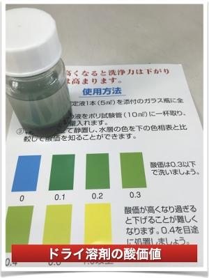 ドライ溶剤酸価値測定